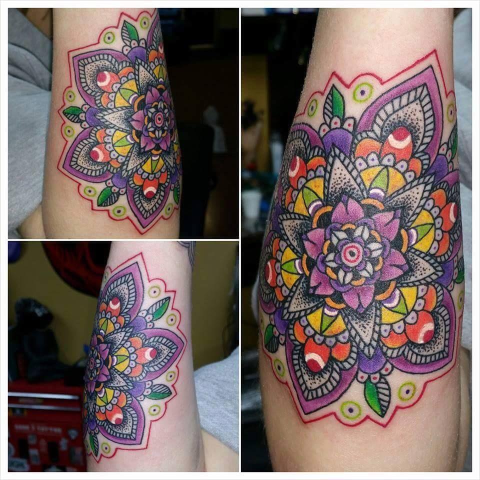 Color compass mandala tattoo google search tattoos for Atomic tattoo lakeland fl