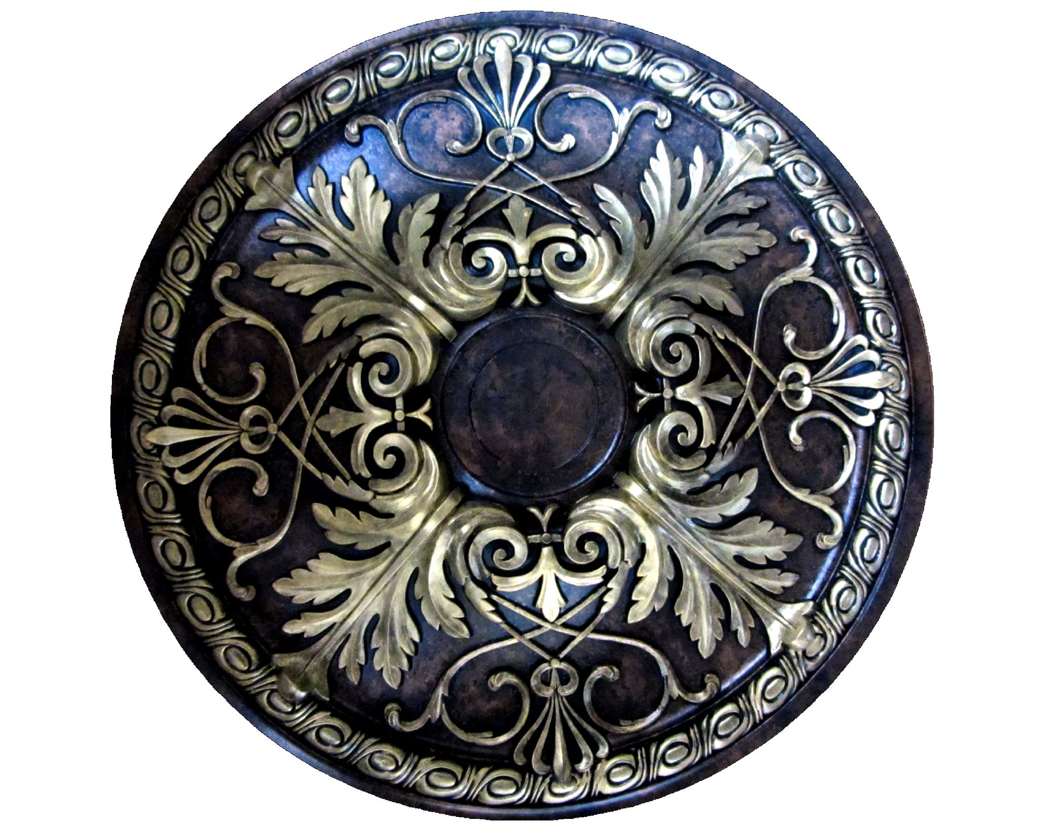 medallion polyurethane painted large ceiling custom products bronze copper gold