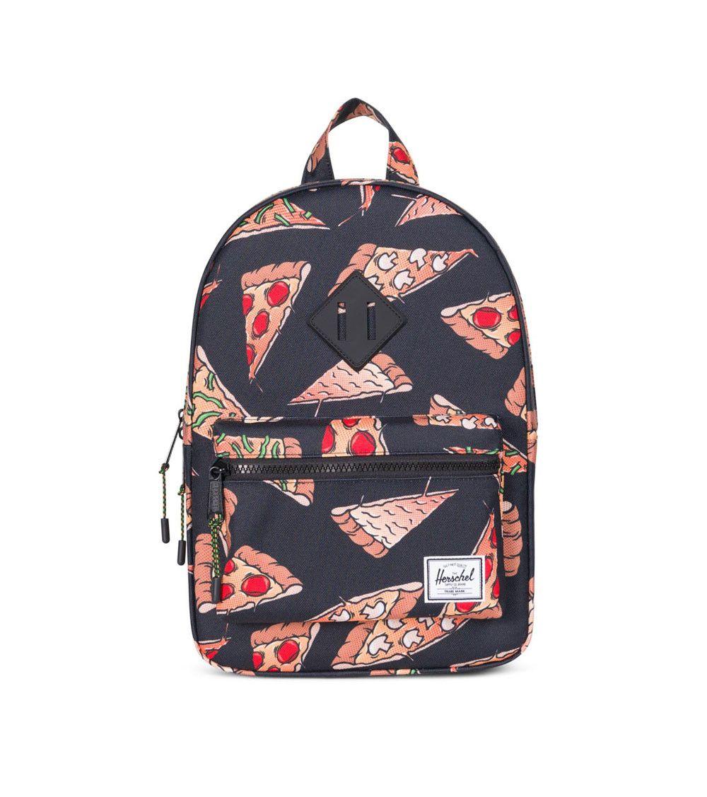 c86157eb7730 Herschel Heritage Kids Backpack Black Pizza