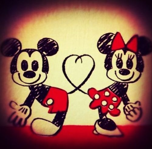 Mickey And Minnie Mouse My Favorite Love