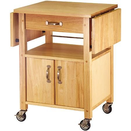 Drop Leaf Kitchen Cart Recipe Rolling