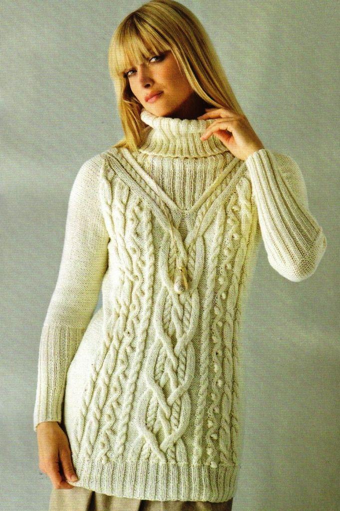 Вязанные женские свитера схемы вязания