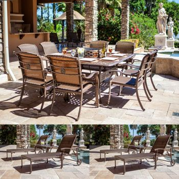 Metzaluna 16 Piece Estate Collection Outdoor Furniture Sets