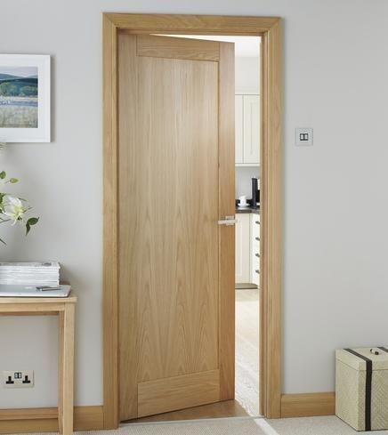 Burford Single Panel Oak Oak Interior Doors Wood Doors Interior Internal Wooden Doors