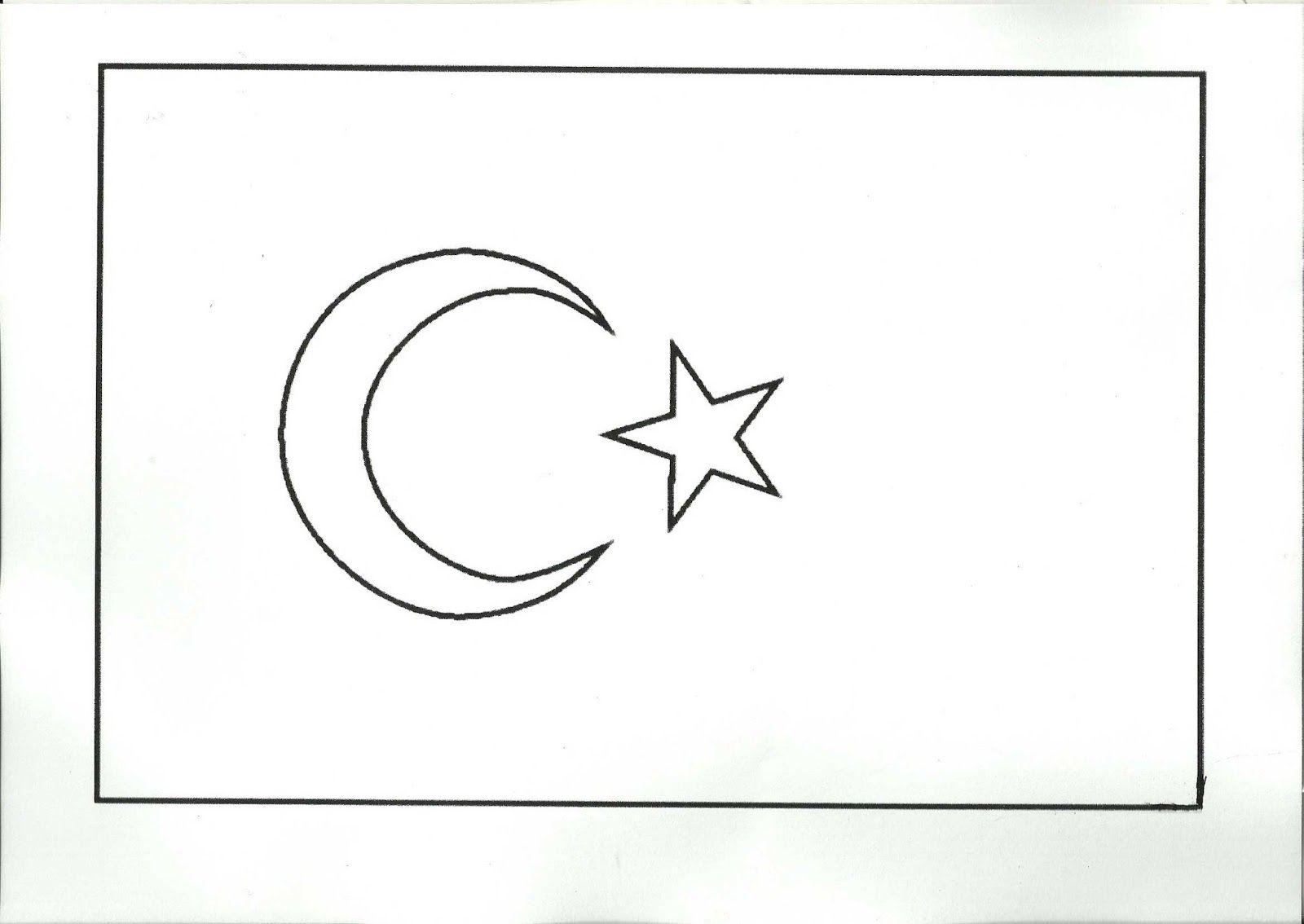 Türk Bayrağı Boyama Kağıdı çalışması Türk Bayrağı Resimleri 2019