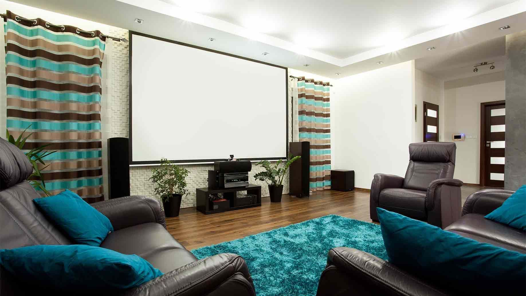 How To Build A Home Movie Theater Room On A Budget  # Meuble Home Cinema Diy