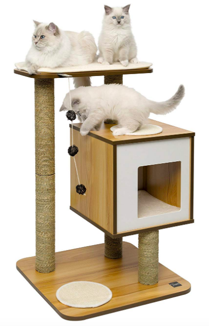 33 Pieces Of Home Decor You Can Get On Amazon That People Actually Swear By Vesper Cat Furniture Cat Furniture Furniture Scratches