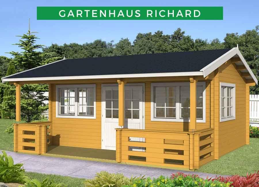Gartenhaus Modell Richard 70 111753 Haus Blockhaus Kaufen Gartenhaus