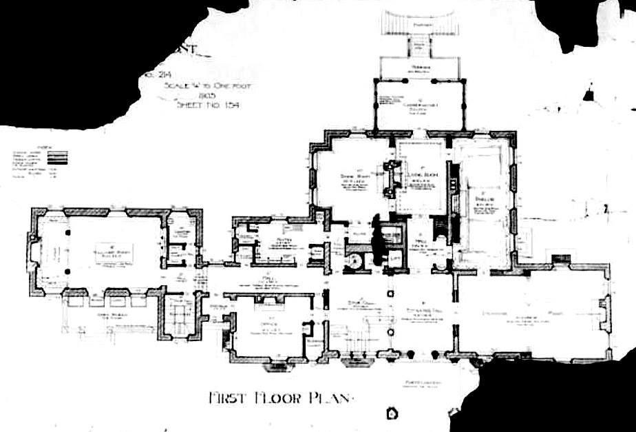 Winterhur Mansion First Floor Plan Gilded Era Mansion