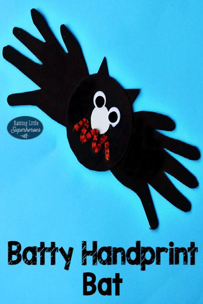 How To Make A Batty Handprint Bat Craft for Kids - Pinterest - halloween decoration kids