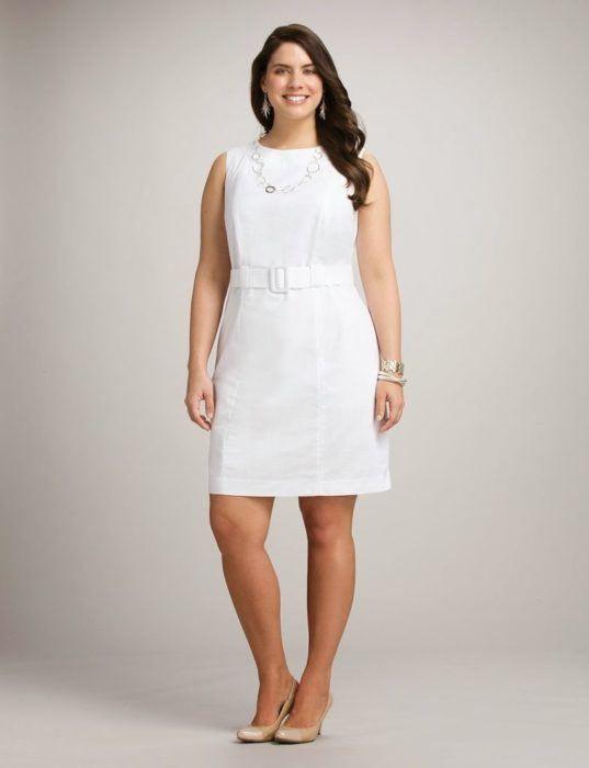 vestidos-para-gorditas-cortos-blanco