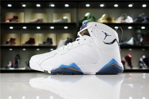 04fae0a83fdf How To Buy Air Jordan 7 Retro French Blue White French Blue-University Blue-Flint  Grey 304775-107