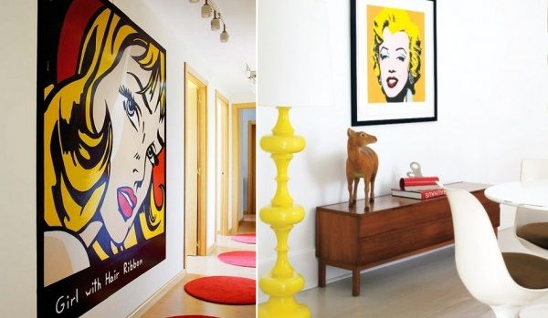 Decorative Interior Images In Pop Art Style