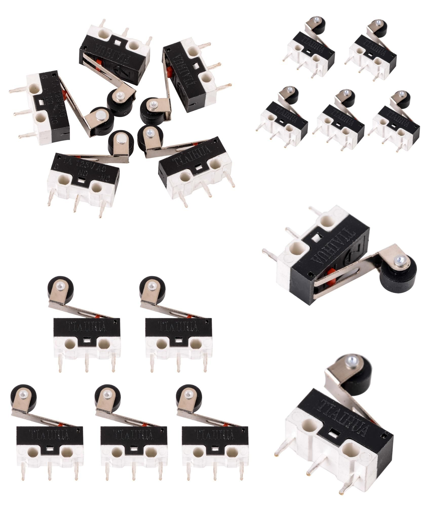 Visit To Buy 5pcs Mini Micro Limit Switch Roller Lever Arm With Microswitch Spdt Sub