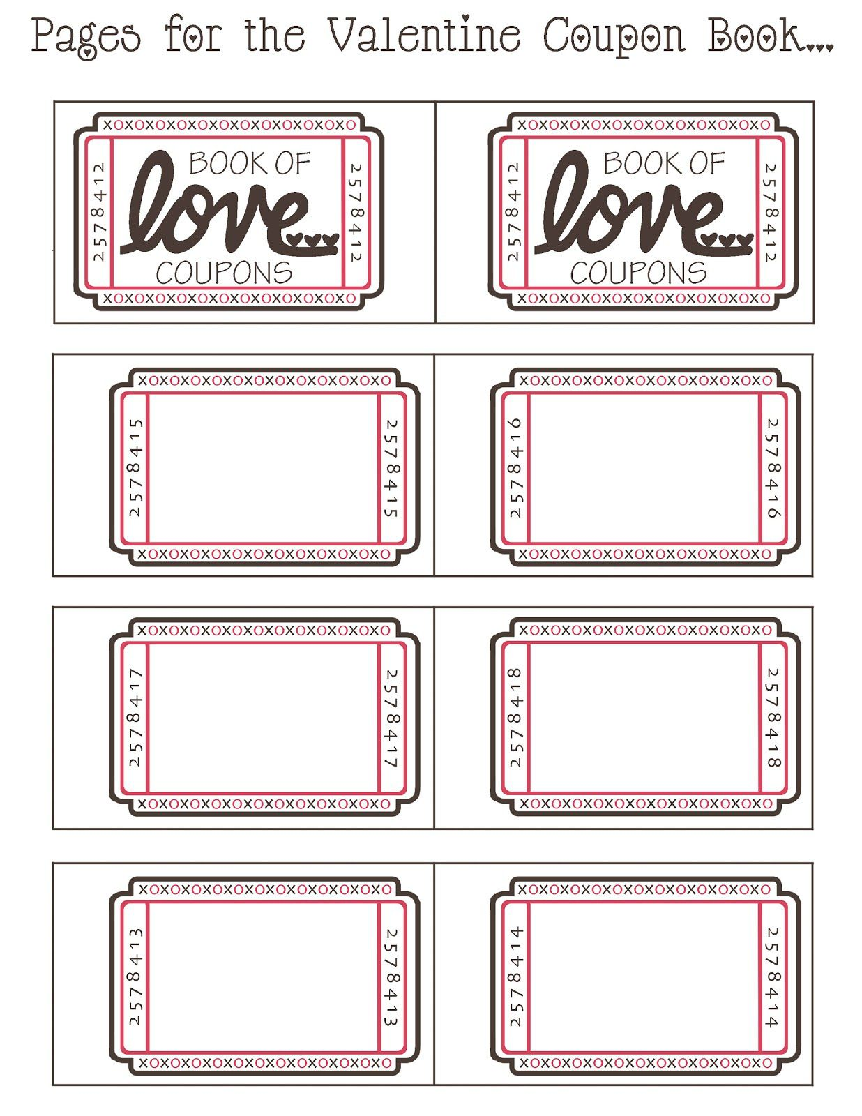 Free printable love coupons templates