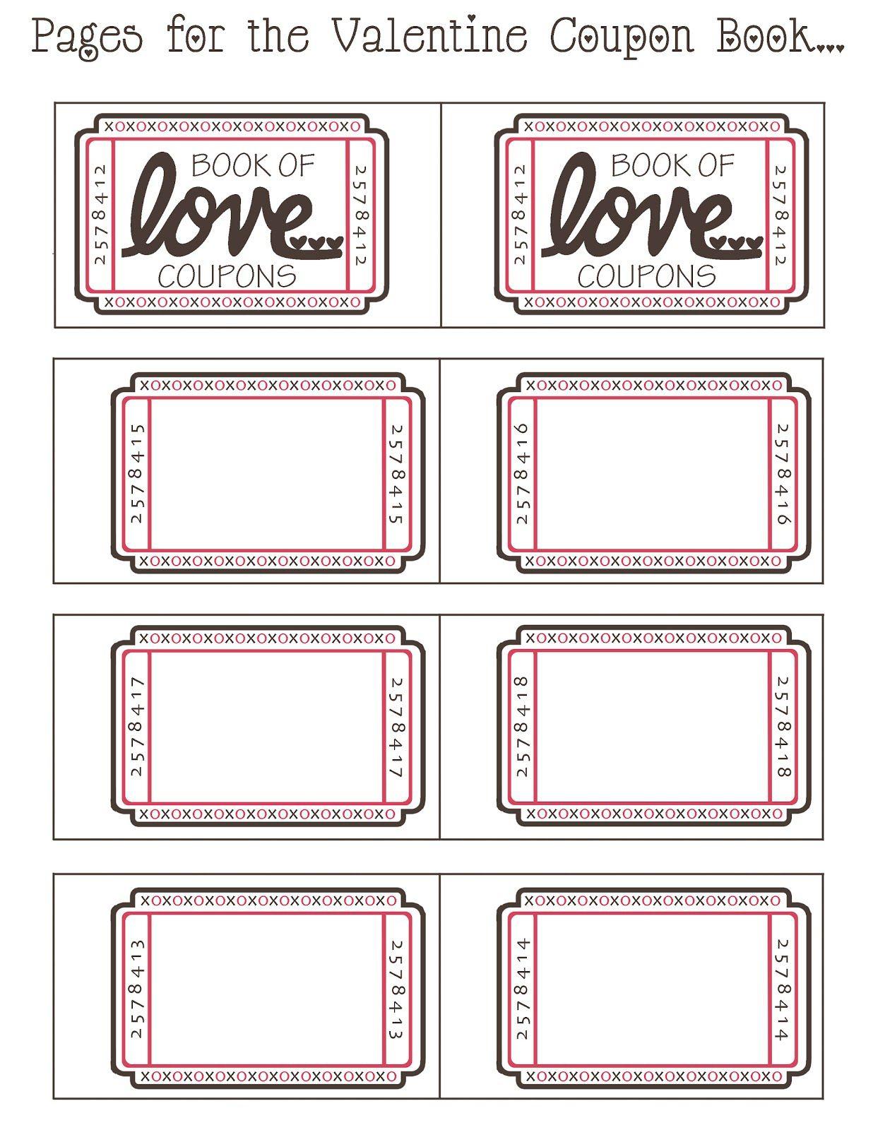 Coupon Book Ideas For Husband Blank Love Coupon Templates Printable