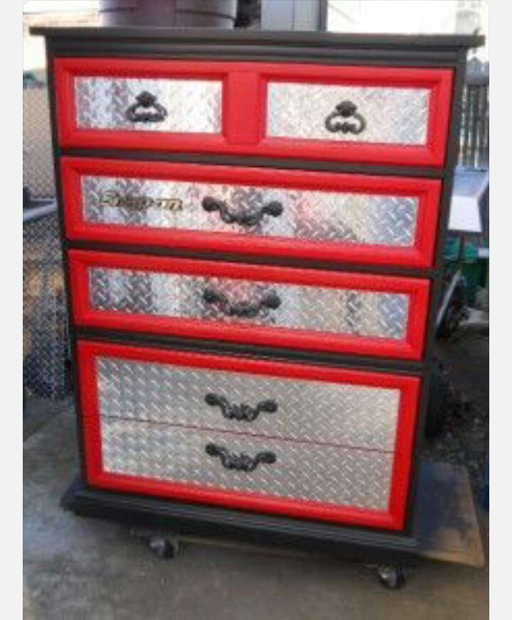 Diy tool box dresser cars room man cave furniture boy room
