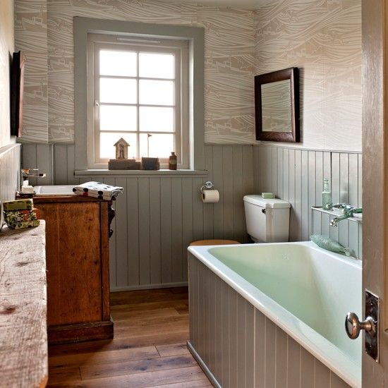 Bathroom with tongue and groove panelling traditional for Bathroom ideas using tongue and groove