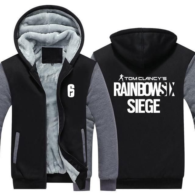 2017 hot sale Rainbow Six Siege Hoodie Men's Winter Casual