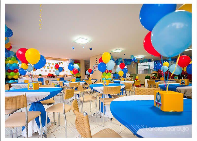 fiesta temtica de tren thomas arcos con globos decoracin de fiestas infantiles fiestas