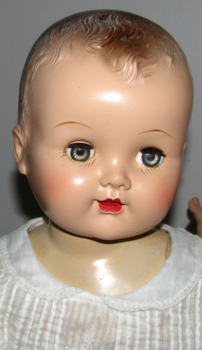 Rare Vintage Large 23 Hard Plastic Head Rubber Limbs Cloth Body Baby Doll Ebay Vintage Dolls Big Baby Dolls Baby Doll Picture