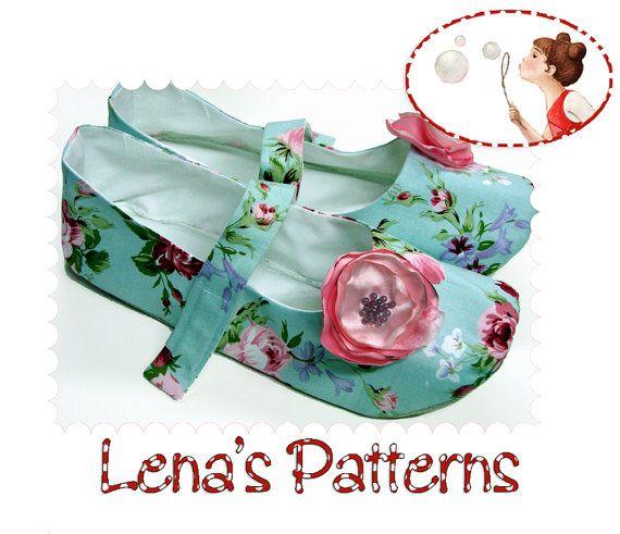 fairytale frocks and lollipops :: lena's patterns, women's mary jane shoes, slippers, footwear, ladies, women, teen, girl, houseshoe, slip-on, slide on, soft shoe, sewing, instant, digital, download, pdf, e-pattern, e-book, epattern, ebook, tutorial, digipattern