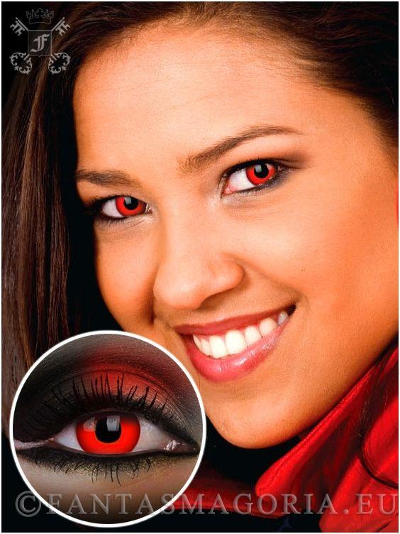 Dracula contact lenses - Block Red (pair) | Fantasmagoria.eu - Gothic Fashion boutique