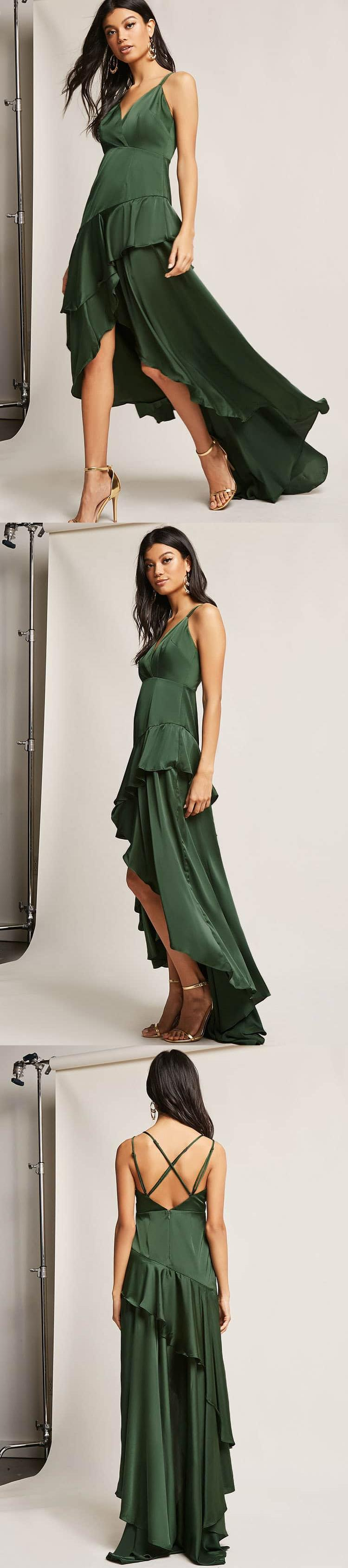 Ruffle highlow maxi dress usd forever new forever