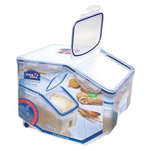 Lockandlock Storage Bin For Grain Or Pet Food With Leak P Https Www Amazon Com Dp B00407n0c4 Storage Containers With Wheels Food Storage Pet Food Storage