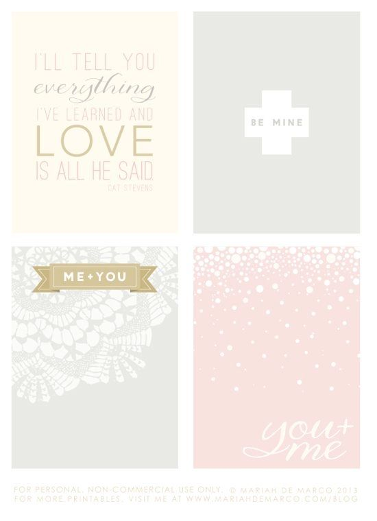 Free Love Project Life Cards #freeprintables by alexandra_klap