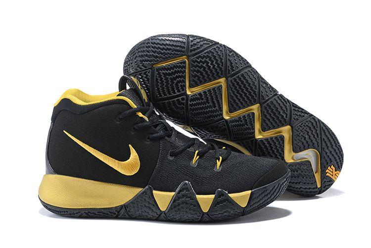 best website 8bf85 72848 Low Price 2018 Men Nike Kyrie 4 Coal Black Gold | lakerslebrons.com ...