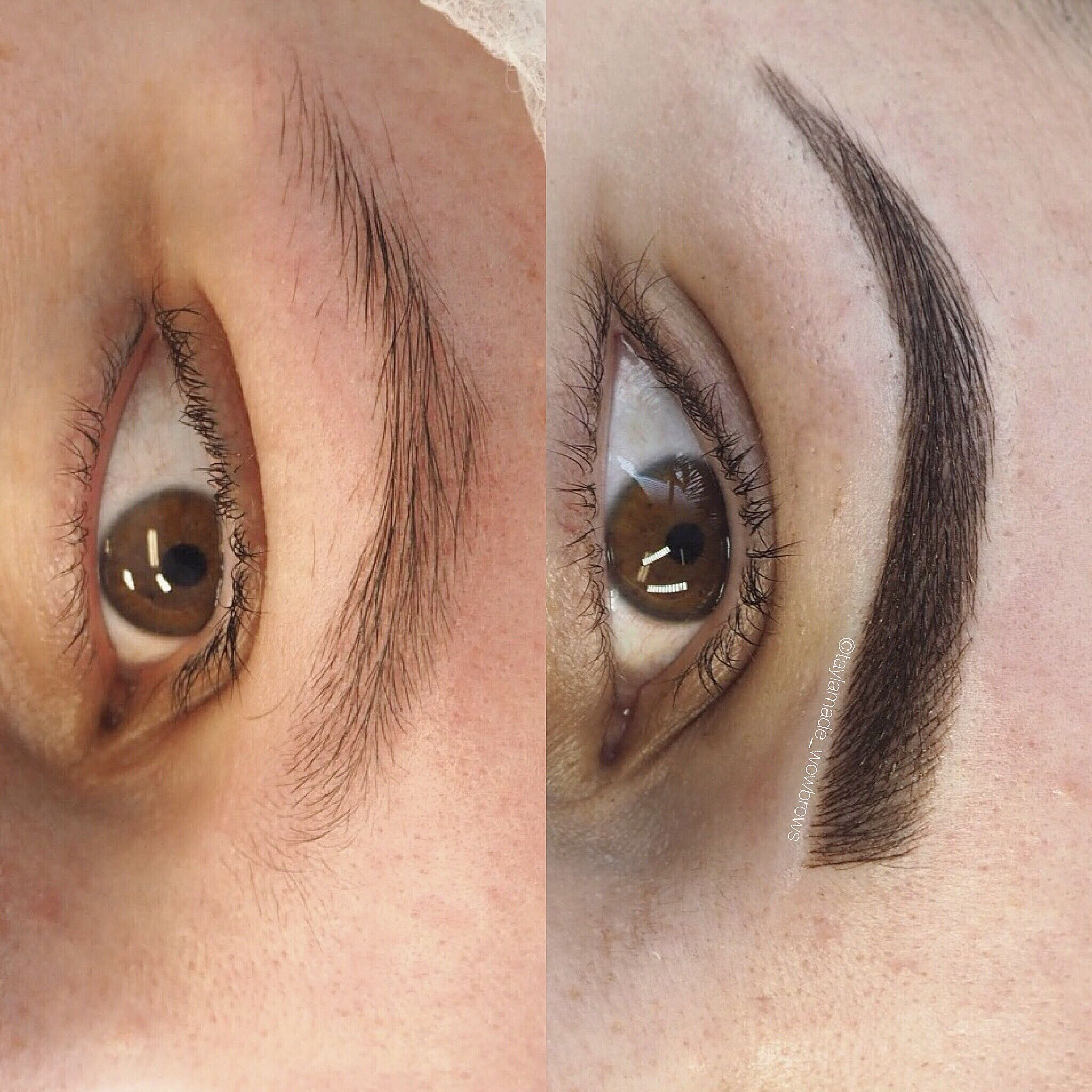 Eyebrow Tattoo Hair Stroke Feather Touch Tattooed Eyebrows Cosmetic
