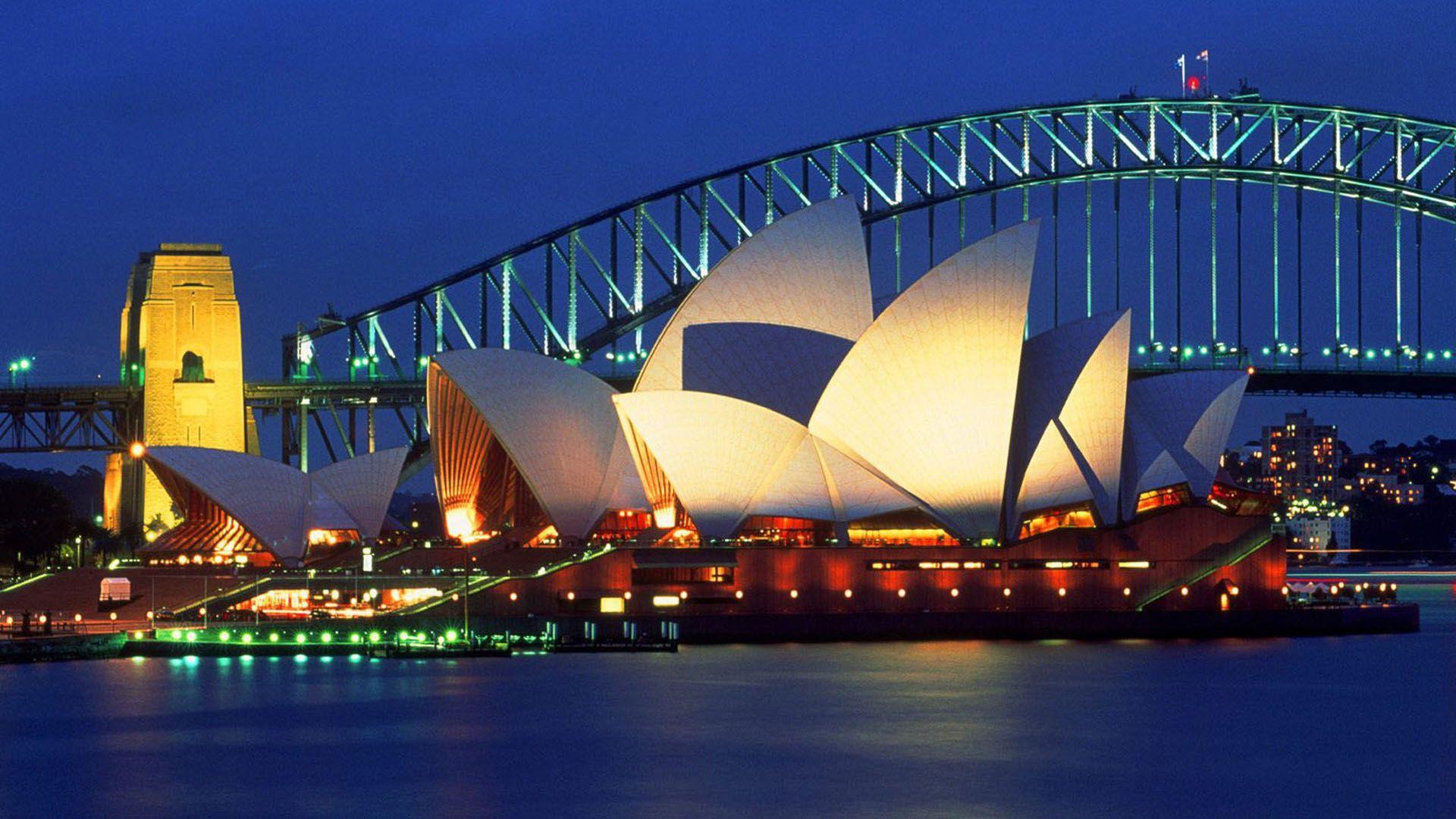 Sydney Opera House Australia 1080p Hd Wallpaper Australia Travel Australia Pictures Places To See