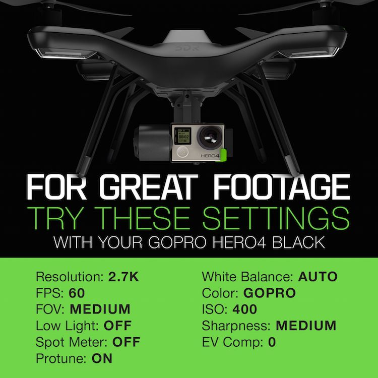 Recommended GoPro Settings | 3DR | Drone & UAV Technology