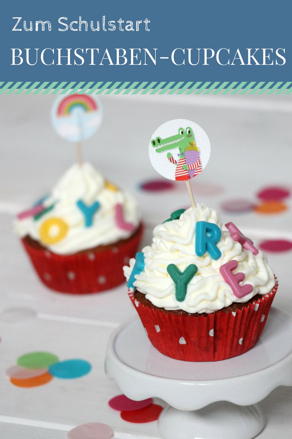 Rezept Einschulungs Muffins Zum Schulanfang Lavendelblog Kuchen Einschulung Cupcakes Torte Schulanfang