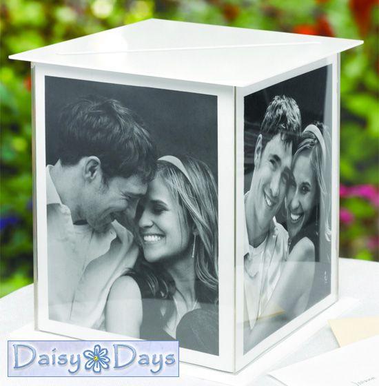 acrylic photo frame card box holder from www.daisy-days.com