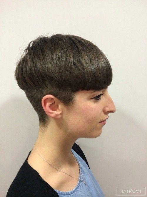 women undercut bowl hairstyle london