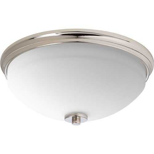 P3423-104 Replay Polished Nickel 14-Inch Two-Light Flush Mount