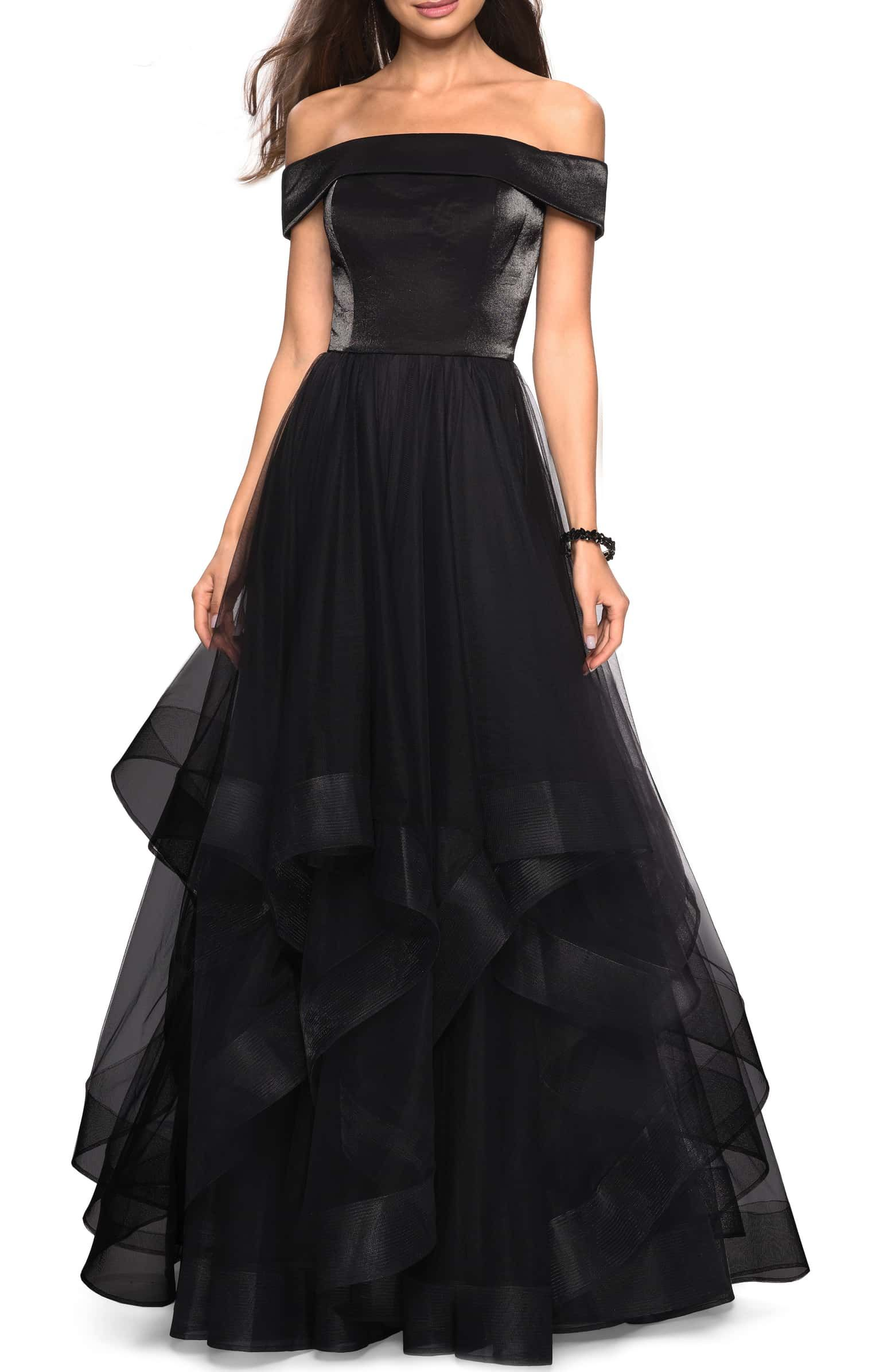 e93342cbb868 Off the Shoulder Evening Dress