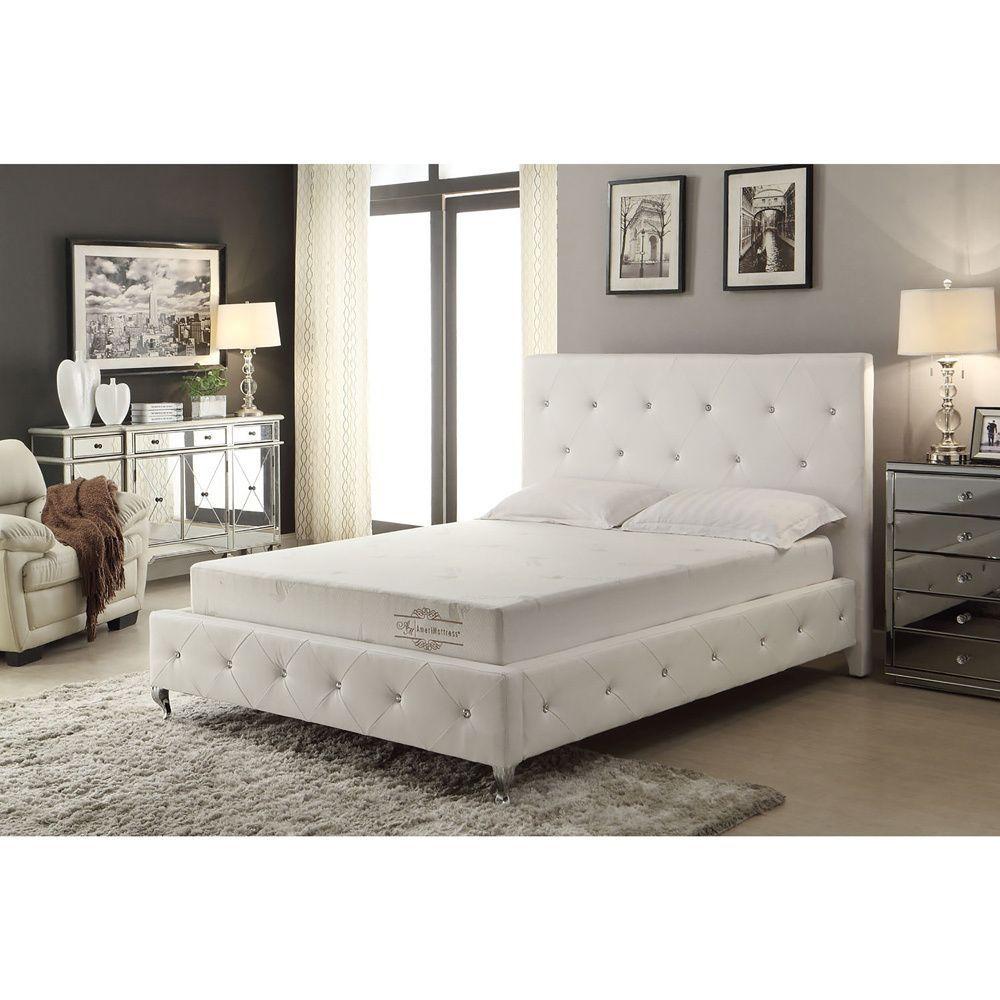 ac pacific 8 inch memory foam mattress with luxurious aloe vera