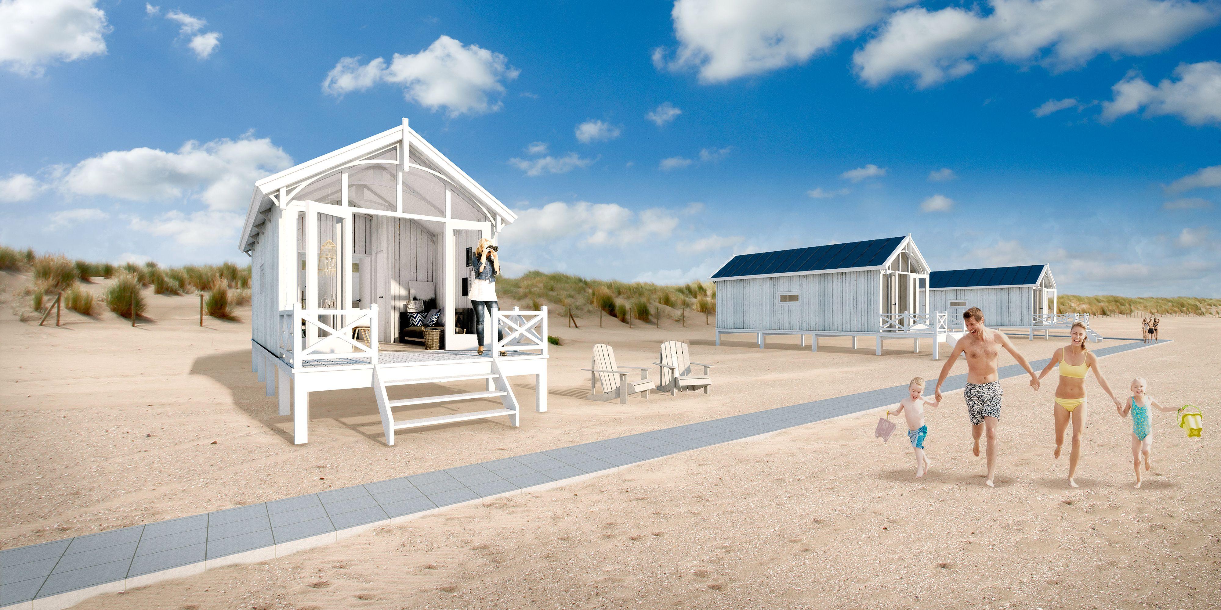 slapen op het strand vanaf april 2016 kunt u strandhuisjes huren in den haag strandh user. Black Bedroom Furniture Sets. Home Design Ideas