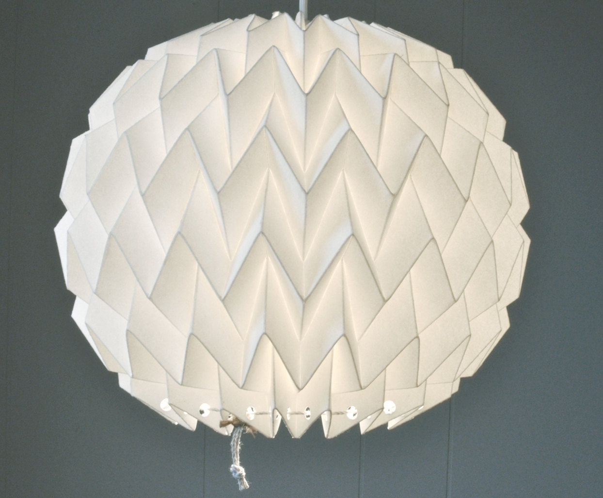 Bubble: Origami Paper Lamp Shade / Lantern - White. $40.00, via ... for Diy Paper Lamp Ideas  150ifm