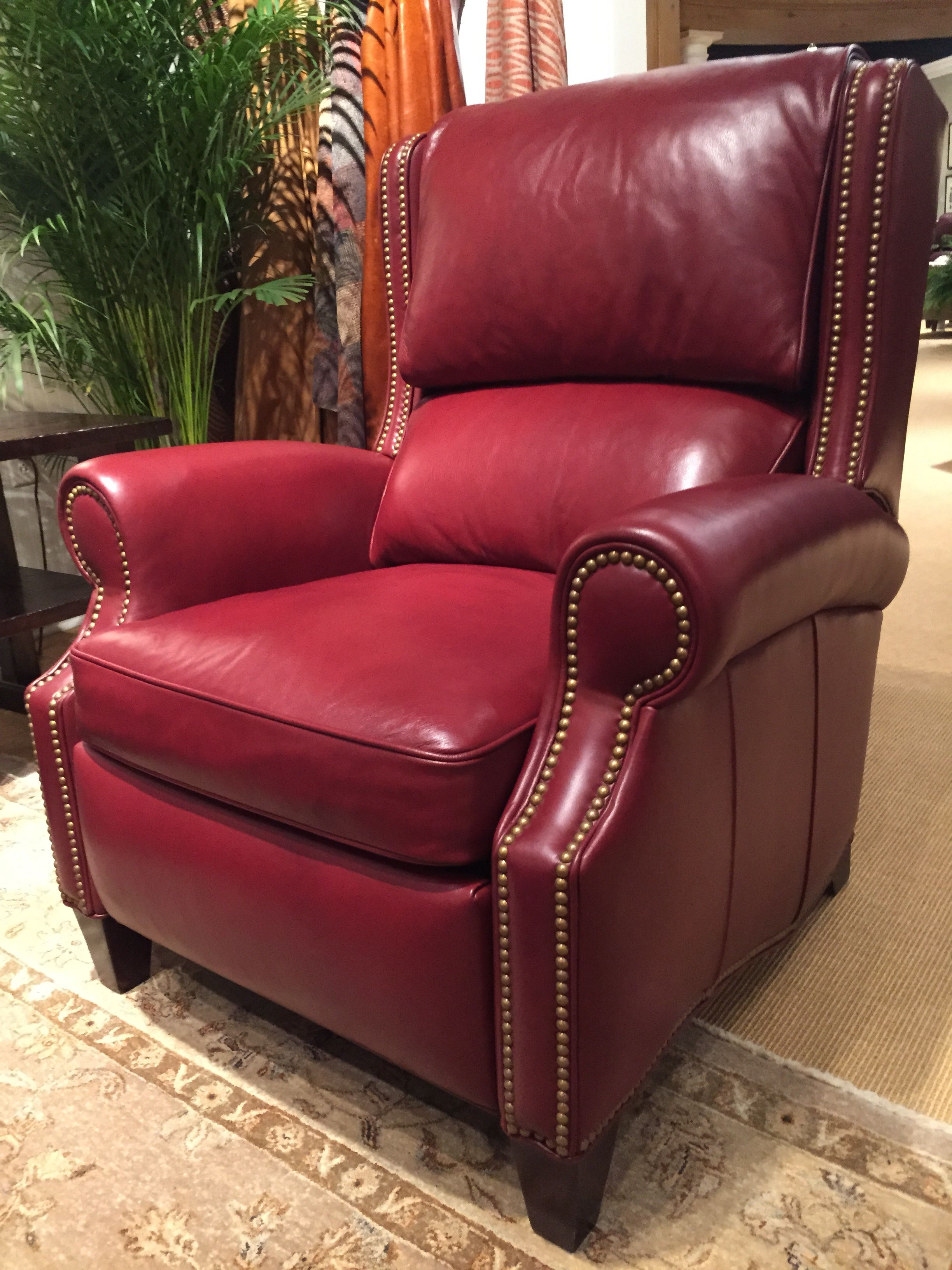 Hancock Moore Red Recliner Spring Furniture Red Decor