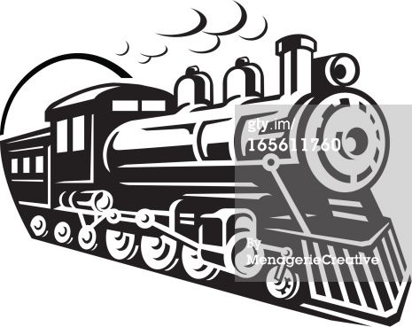 Line Art Graphic Of Steam Train Emerging From A Tunnel Train Drawing Train Clipart Train Silhouette