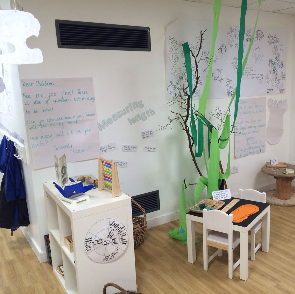 Reggio Inspired Jack And The Beanstalk Estimating And Measuring Maths Independent Learning Area