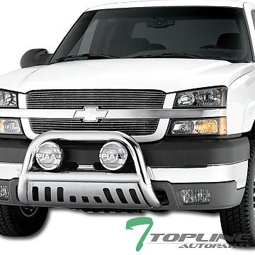Hd S S Bull Bar Brush Push Bumper Grill Guard V2 99 06 Silverado