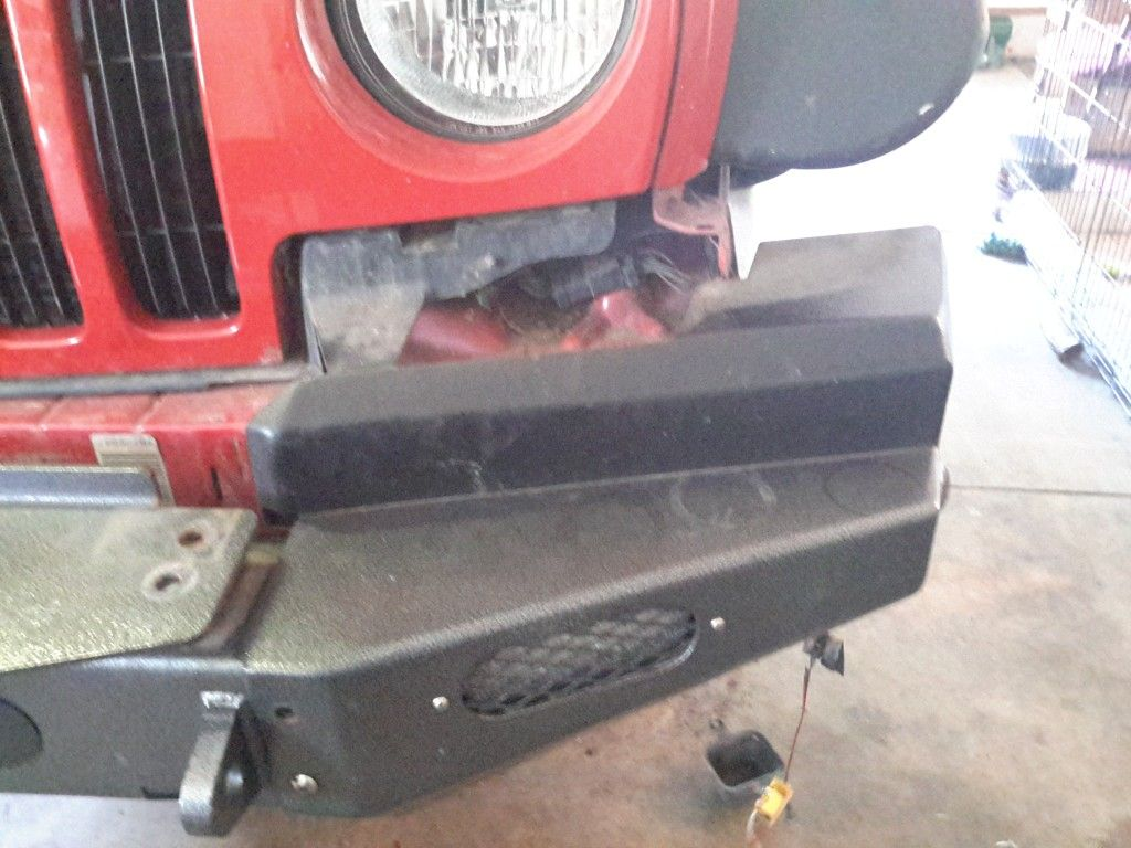 2004 Jeep Liberty, Rock Lizard front bumper installation
