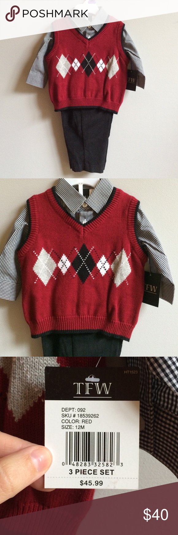 NWT Sweater Vest Corduroy Pants Set Brand new with tags. Retail ...