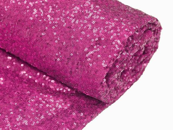 Sequin Fuchsia Hot Pink Bolt Fabric Various Sizes
