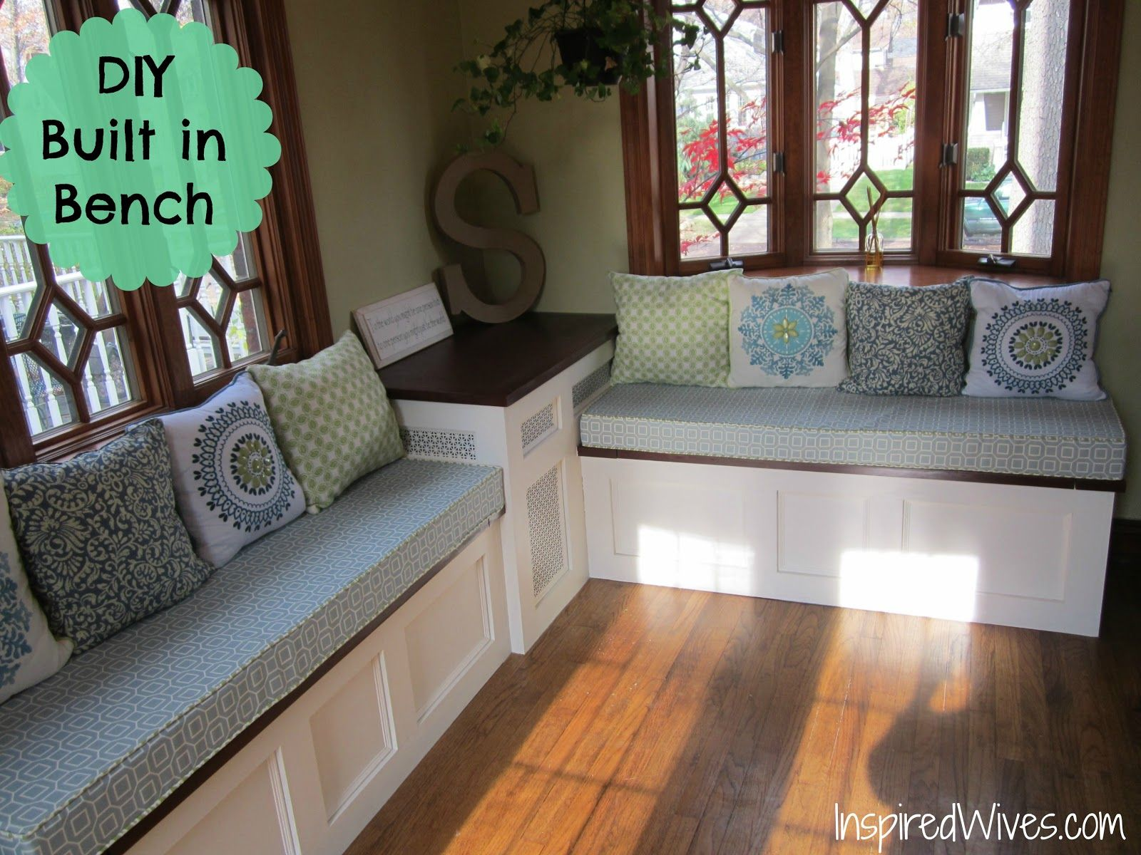 Built In Couch diy built in bench - this to cover up the sump pump. | rec room